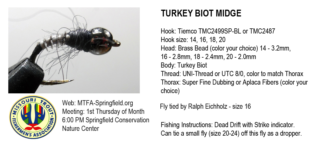 Turkey Biot Midge - Missouri Trout Fisherman's Association