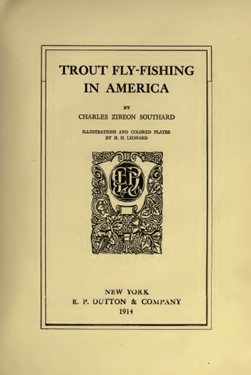 Trout fly fishing in america by charles z southard for Trout fishing in america