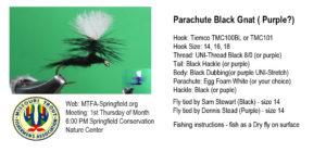 Parachute Black Gnat (Purple)