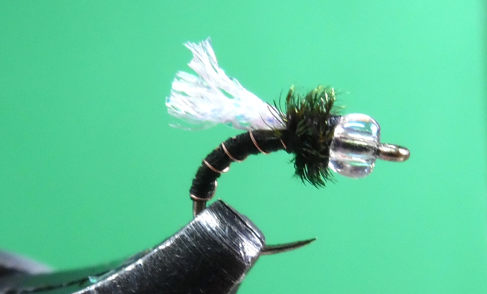 Glass Bead Zebra Midge Red Fly Fishing Fly